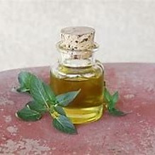 essential oil in bottle