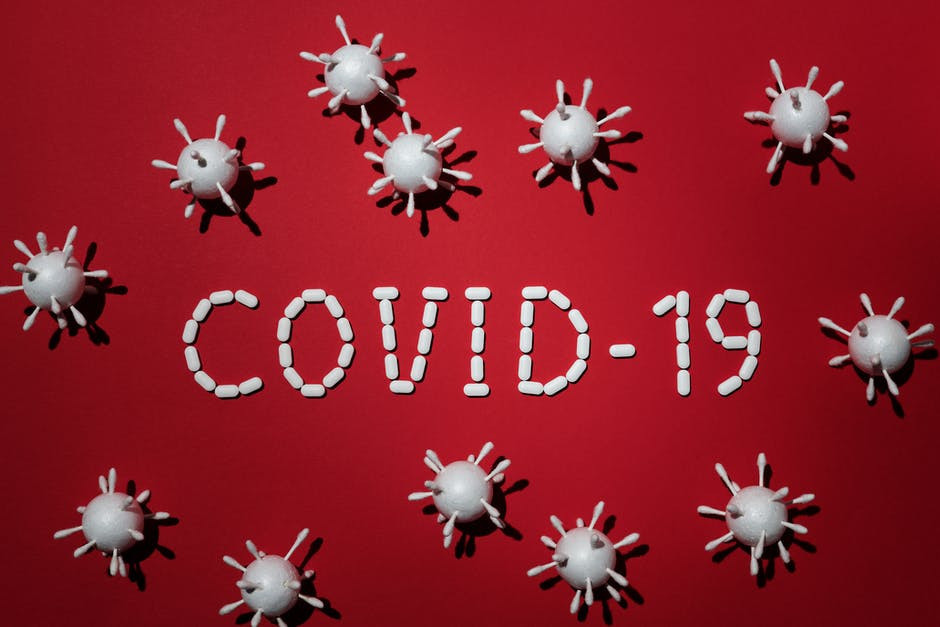 covid-19 word and cells